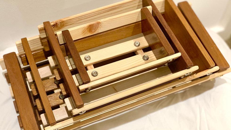 Set of 4 wooden Fruit Baskets
