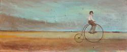 Self-Portrait on Bicycle circa 1917