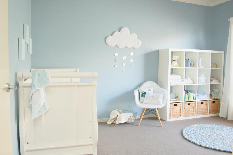 Quarto bebe azul