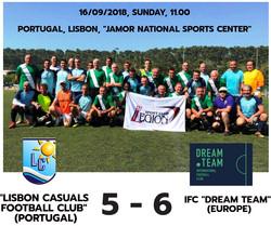 Lisbon Casuals v IFC Dream Team_16_09_18