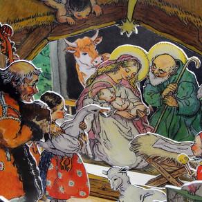 Osel, vůl a bába s kozou