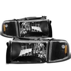 94-01 Dodge Housings Black