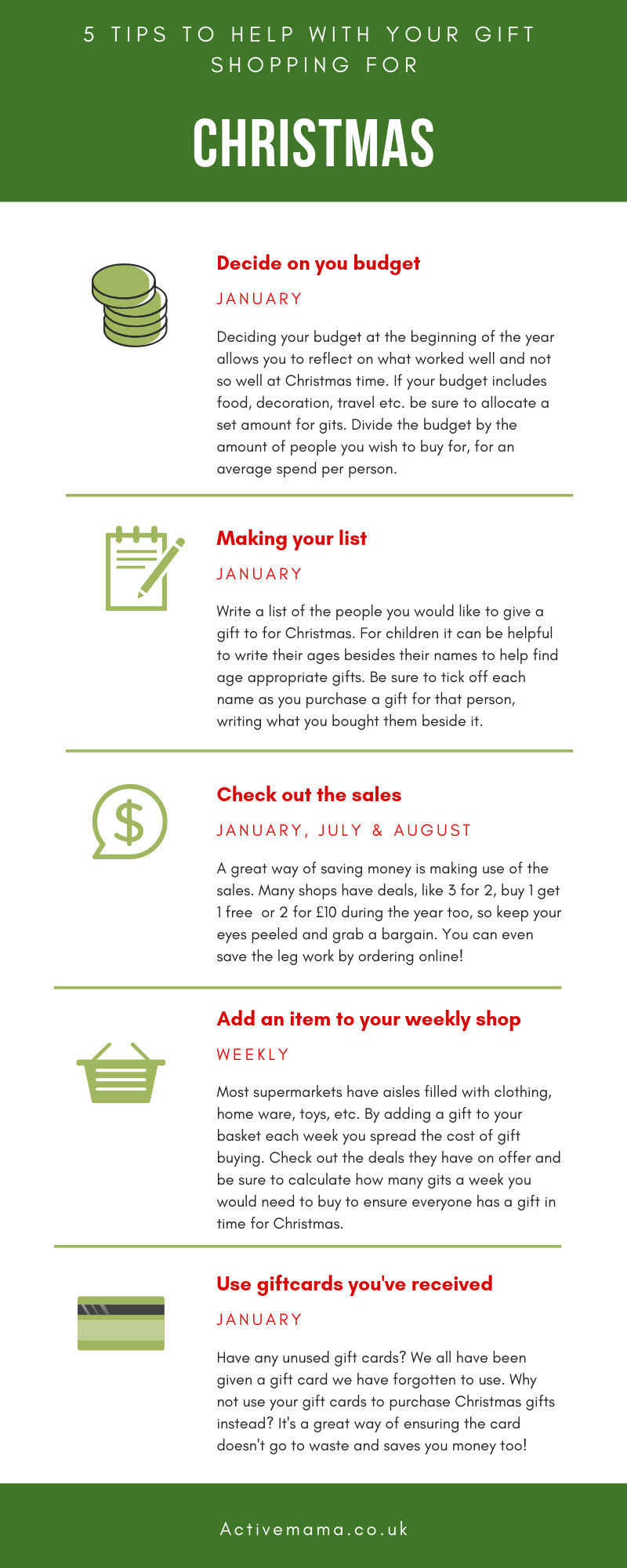 Christmas Shopping Tips Info-graphic