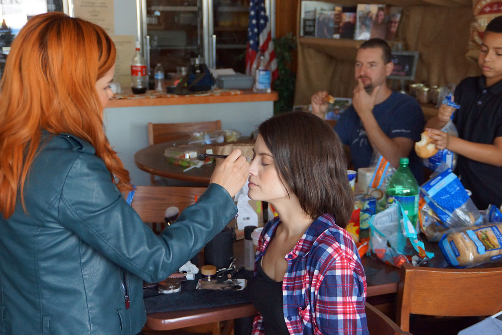 Behind the Scenes: Risa Rodriguez doing my hair and makeup.