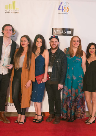 Cast and Crew of WAITING ROOM on the Red Carpet at Filmapalooza