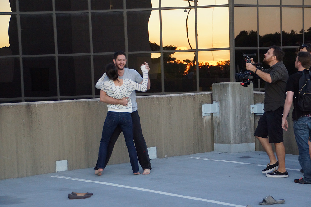 Behind the Scenes: Filming the rooftop dance