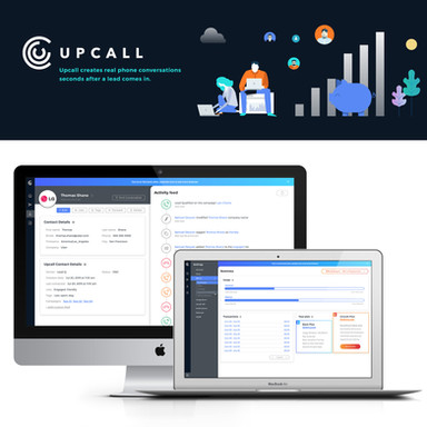 UpCall SaaS Dashboard // Design product, UX & UI