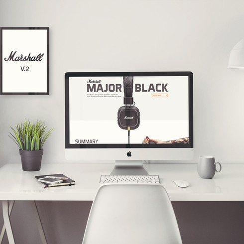 Marshall landing page // Website design