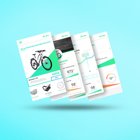 E-shop of electric bike // Mobile Application // User experience
