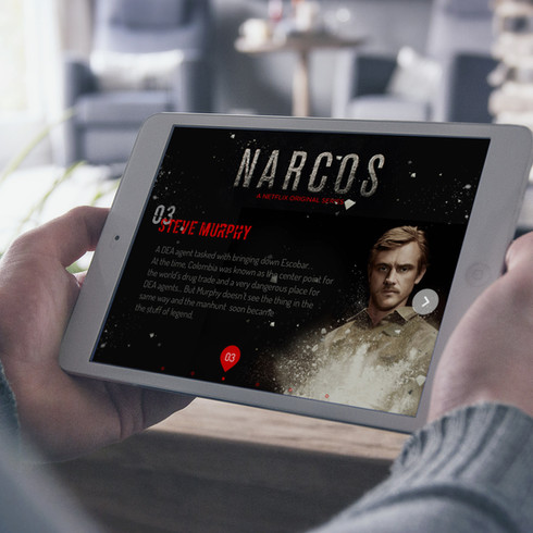 Narcos TV Show // App conception // UX/UI Product Design