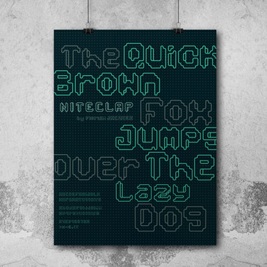 Typography composition poster // Typeface conception, creation & design