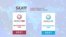 SKATT ha sido reconocido por tercera vez Firma Recomendada por ITR