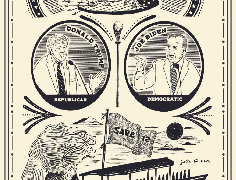 10月藏書票:美國總統辯論 X 十二港人送中