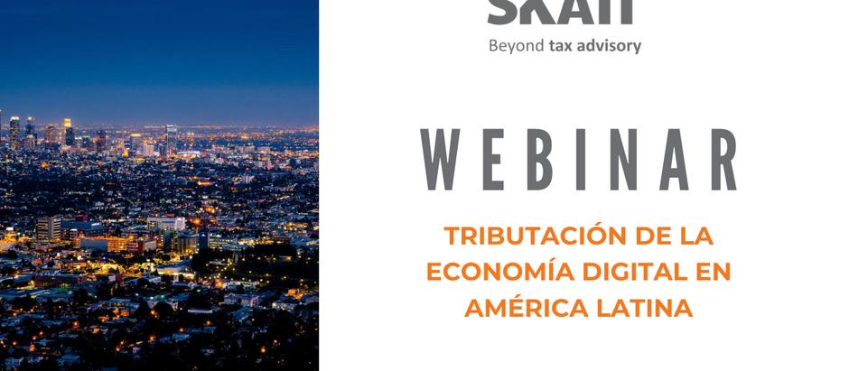 """Webinar """"Tributación de la Economía Digital en América Latina"""""""
