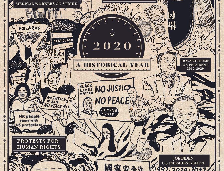 12月藏書票:2020年大事回顧