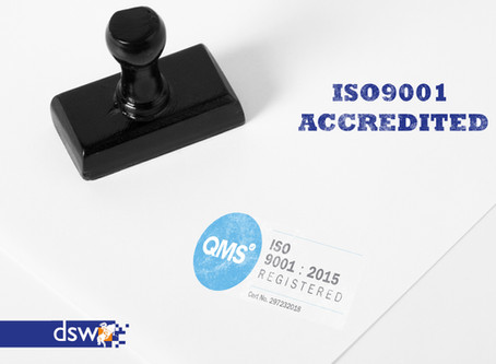 DSW achieves ISO 9001 certification