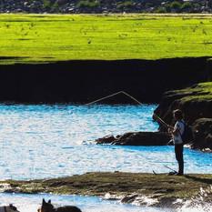 Pesca en Marina Colbún