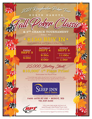 Fall Poker Classic Flyer | Roughrider Poker Tour