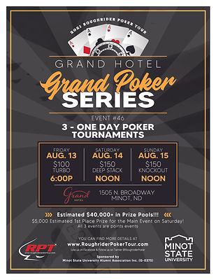Grand Hotel Grand Poker Series Flyer | Poker Tournaments in North Dakota