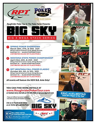 Big Sky Big 3 Mega Stack Series Flyer   Roughrider Poker Tour