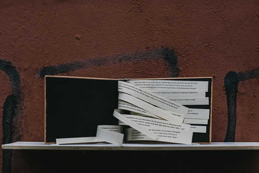 'Fall Back', artist book by Raquel Amat Parra.  Photo Credit; Neal Campbell
