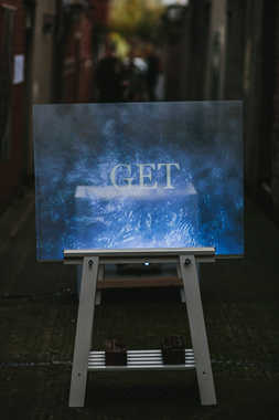 'Get There, Stay' - Video Projection, Cathy Scullion  Photo Credit: Neal Campbell