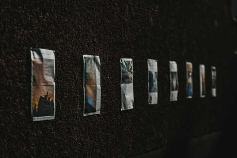 Pages from 'Liminal Times' - digitally printed newspaper by Meadhbh McIlgorm.   Photo Credit: Neal Campbell