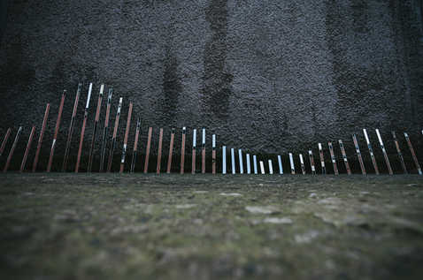 'Reflecting Some Statistic' - mirror installation by Meadhbh McIlgorm   Photo Credit; Neal Campbell