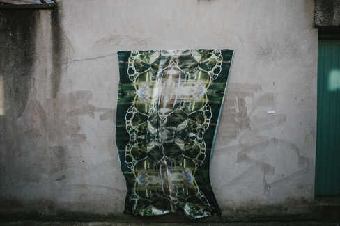 'Bubble Netwoks', digital print on fabric by Meadhbh McIlgorm   Photo Credit; Neal Campbell