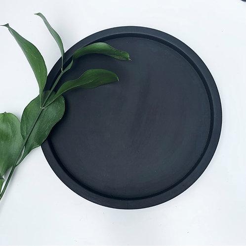 Matte Black Concrete Tray   Decorative Tray   Styling Tray   Round Tray