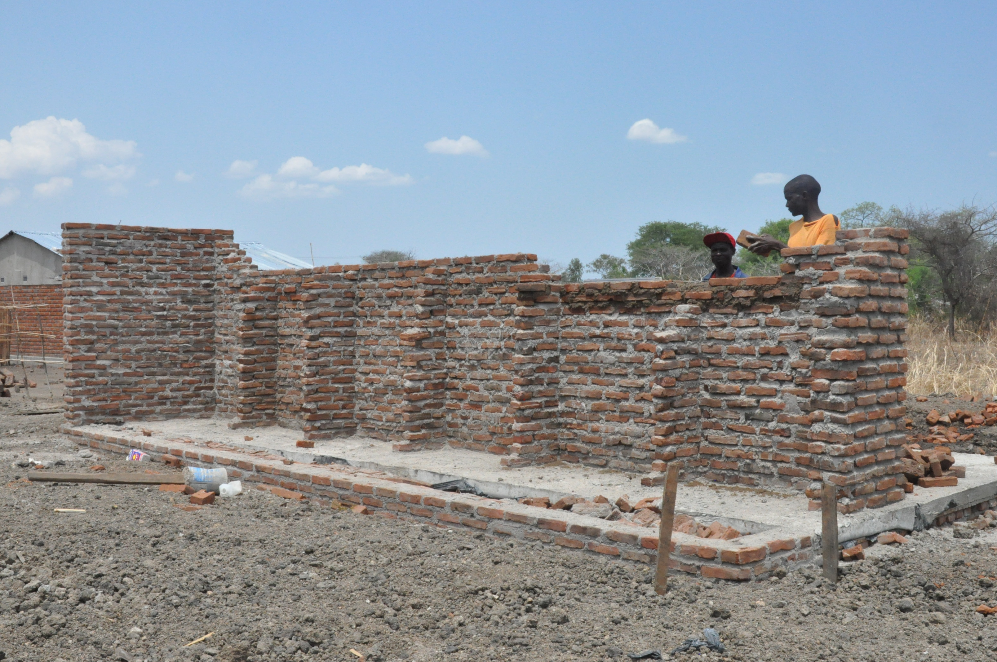 New shower and toilet block