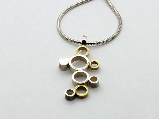 Pendant 18ct Gold and Silver