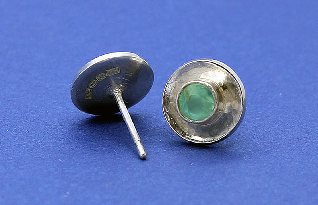 Earrings - Chrysoprase and Silver