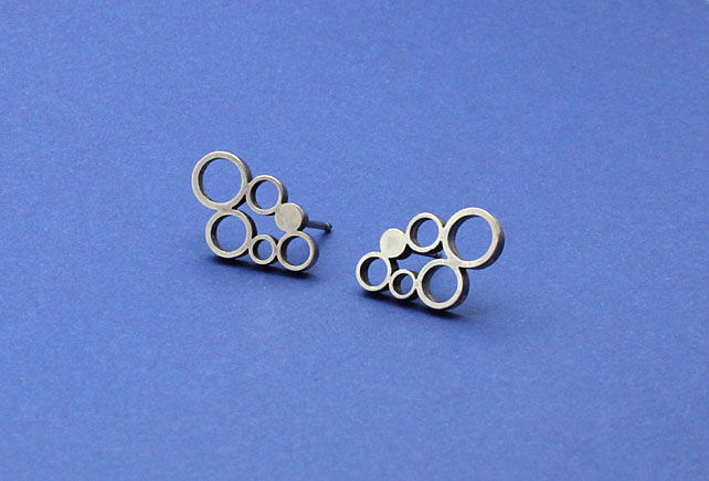 Earrings Sterling Silver Circles