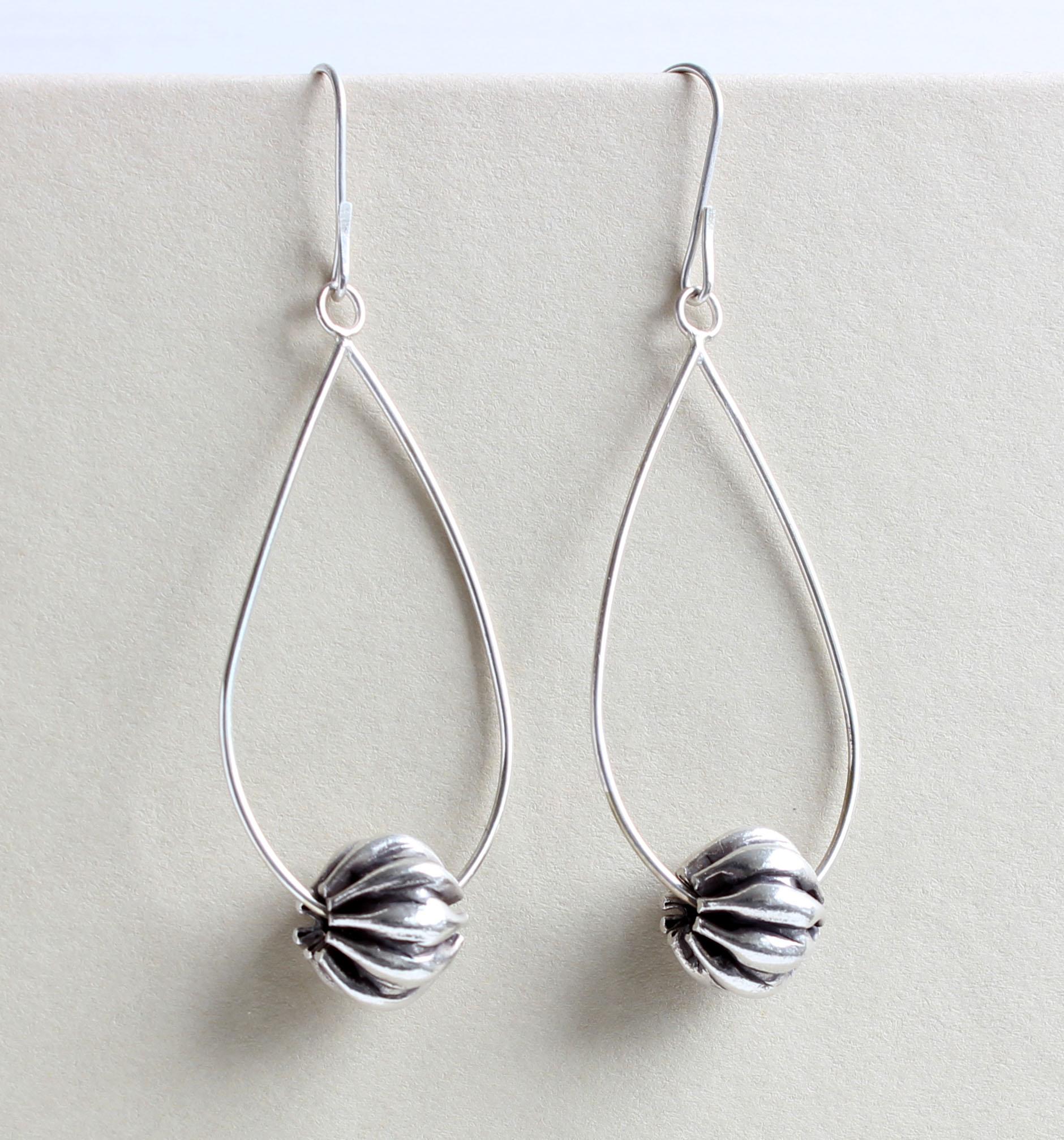 Pumpkin Bead Earrings
