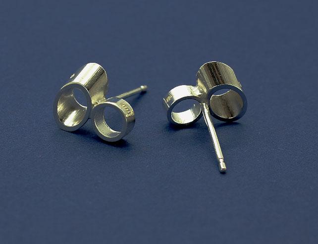 Earrings - 45 degree silver