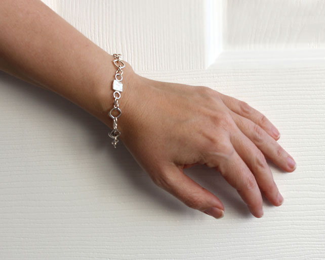 Bracelet Reticulated Silver