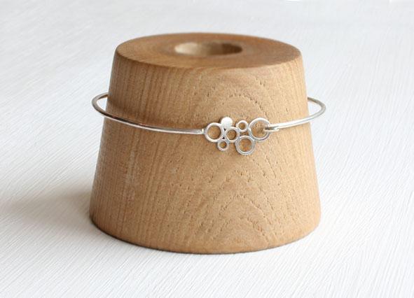 Silver Circles Bangle