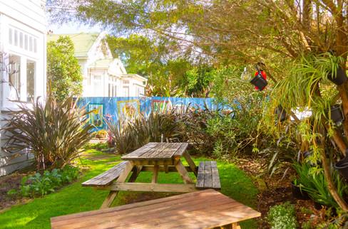 Tables in Front Garden