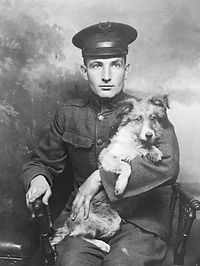 2 Dog Picture – Sergeant William Abbitt Jenkins Sr -- served during WW1; after the war he