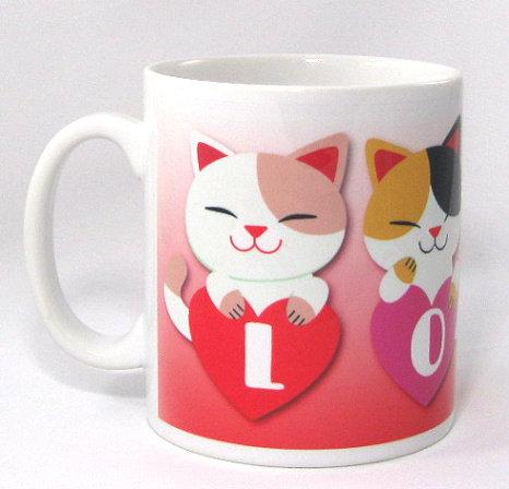 The Loveheart Cats mug