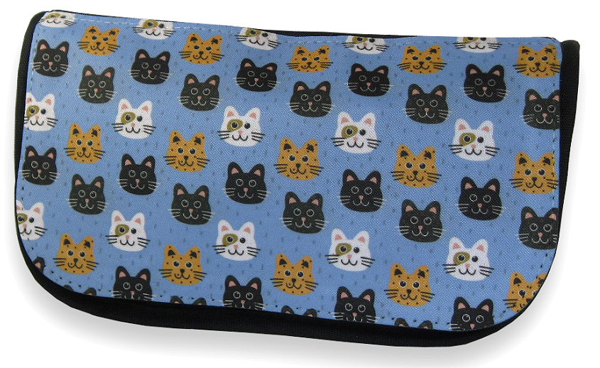 Smiling cats make up bag / pencil case