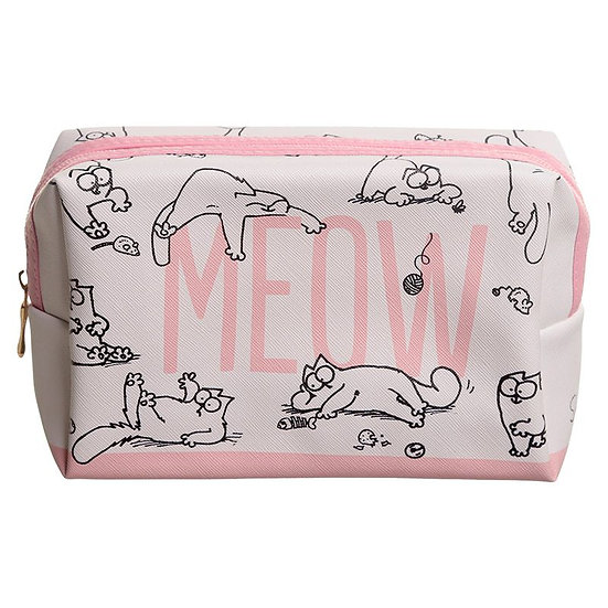Simon's Cat 'Meow' PVC make up / wash bag