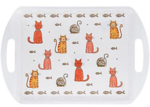 Cat design serving tray