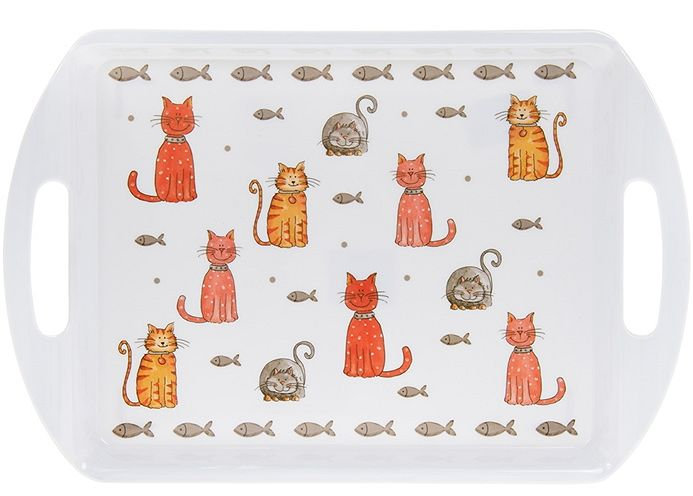 Cat design serving tray