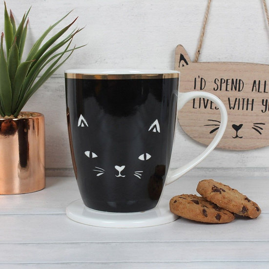 Crazy cat lady mug and coaster set