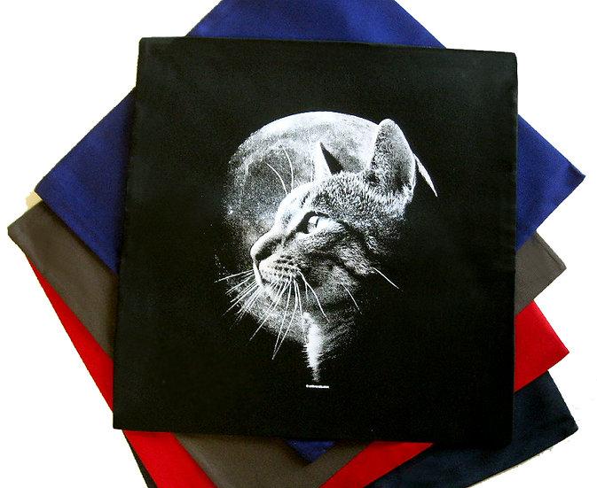 Cat moon cotton cushion (five colours)