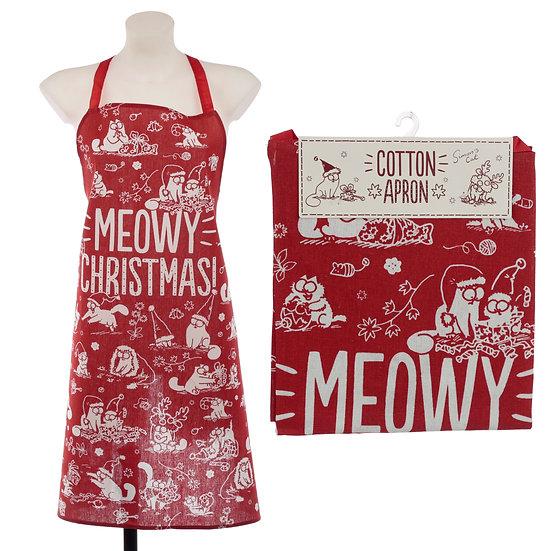 Simon's Cat Meowy Christmas apron