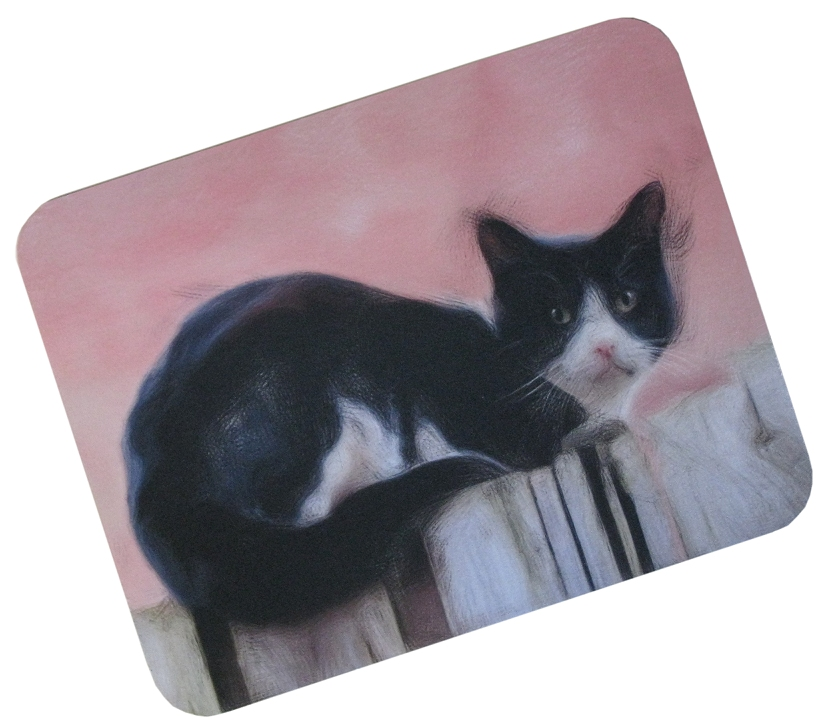 Black cat mousemat