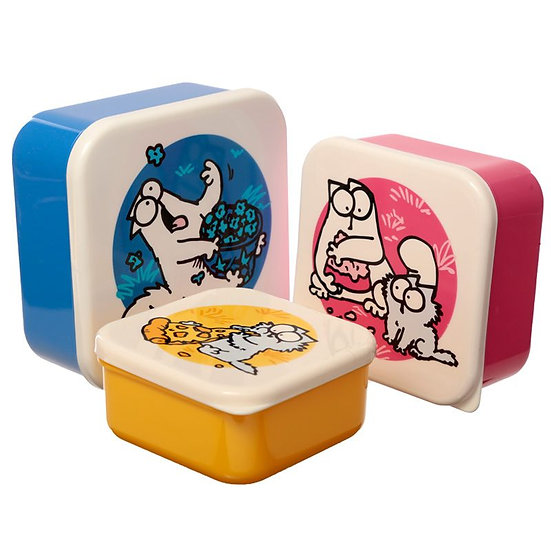 Simon's Cat set of three lunch boxes